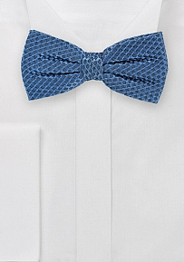 Intricate Woven Pre-Tied Bowtie in Dragonfly Blue