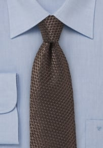 One of a Kind Hazelnut Tie with Jacuard Weave