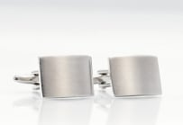 Brushed Stainless Steel Cuff Links