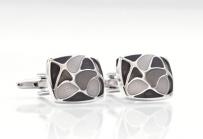 Silver and Gray Cuff Links