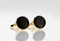 Mens Cufflinks Black and Gold
