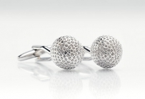 Mens Cufflinks in Golfball Design