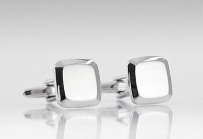 Formal Cufflinks in Polished Silver