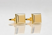 Mens Square Cuff Links in Gold