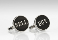 Oval Shaped Buy and Sell Cufflinks