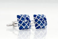 Blue and Silver Cuff Links