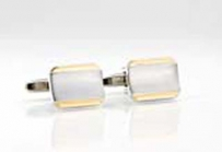 Silver and Gold Cuff Links