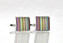 Designer Cufflinks in Rainbow