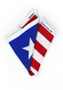 Pocket Square Liberian Flag