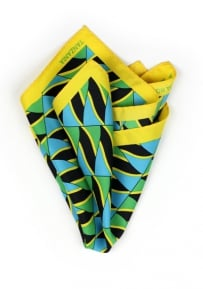 Pocket Square Tanzanian Flag