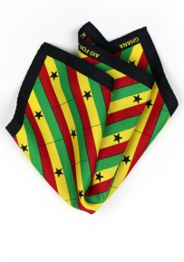 Pocket Square Ghana Flag