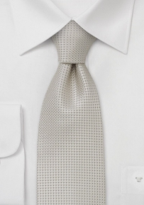 Wedding Silk Tie in Festive Platinum