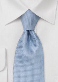 Light Blue Mens Silk Tie
