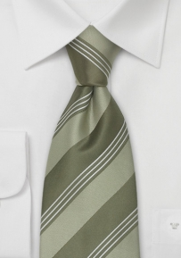 Extra Long Tie in Fern Green