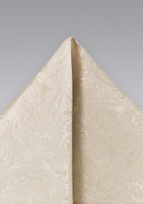 Light Cream Colored Wedding Pocket Square