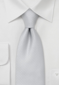 Patterned Silver Tie