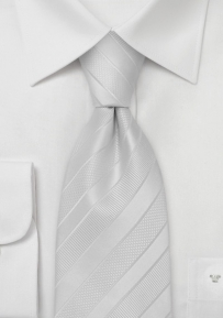 Bright Ivory Mens Silk Tie