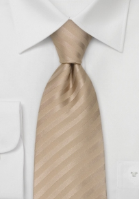 Mens Silk Tie in Light Beige-Brown