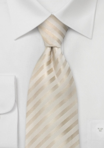 Ivory Colors Wedding Silk Tie