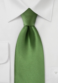 Kids Necktie in Moss Green