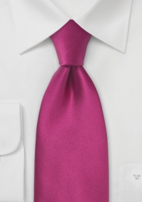 Silk Boys Tie in Magenta Pink