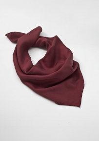 Solid Chestnut Brown Women's Neck Scarf