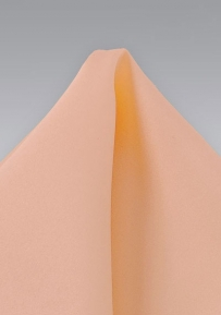 Men's Silk Hanky in Coral Peach