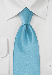 Bright Cyan-Blue Boys Tie