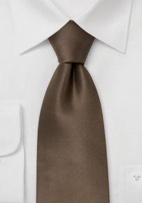 Mens Tie in Bronze Brown