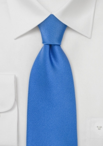 Mens Silk Necktie in Bright Blue