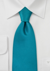 Solid Silk Tie in Turquoise Green