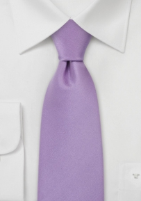 Kids Neck Tie Solid Lavender