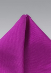 Silk Pocket Square in Magenta Color