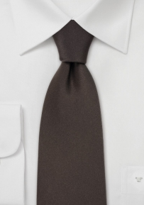 Kids Tie in Solid Brown