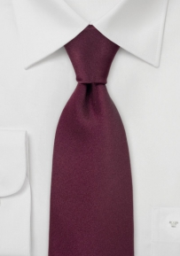Mens SIlk Necktie in Solid Burgundy