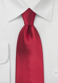 Extra Long Tie in Cherry Red