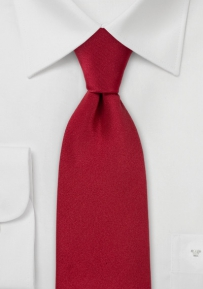 Solid Silk Tie in Cherry Red