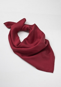 Carmine Red Womens Silk Scarf
