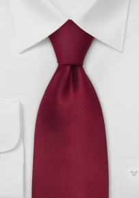 Solid Silk Tie in Dark Carmine-Red