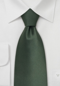 Dark Hunter Green Silk Tie in Solid Color