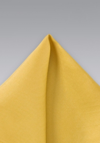 Yellow Gold Hued Silk Handkerchief