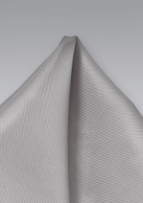 Pure Silk Pocket Square in Silver Gray