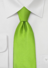 Boys Silk Tie in Bright Green