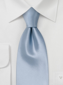 Solid Silk Tie in Light Blue