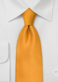 XL Solid Tie in Amber Yellow