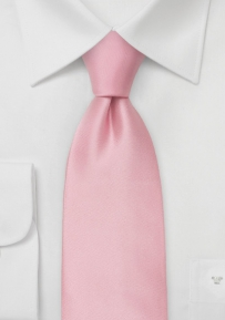 Solid Cherry Blossom Pink Tie in Extra Long