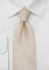 Extra Long Champagne Necktie