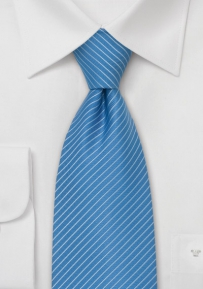 Light Blue Necktie With Light Blue Stripes