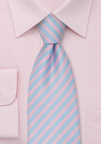 Trendy Mens Necktie in Electric-Blue and Pink