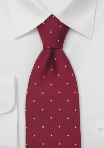 Ruby Red Polka Dot Tie